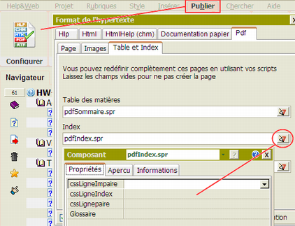 Configurer l'index pdf
